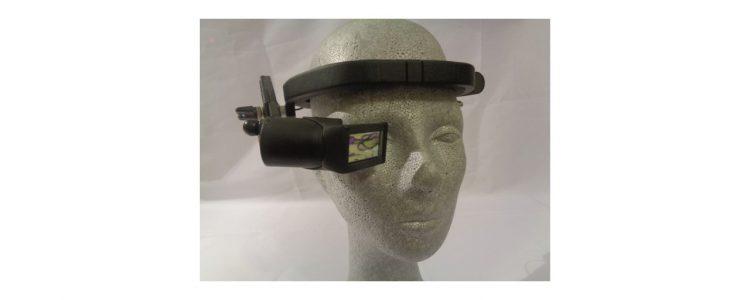 AR Datenbrille an Kopfbandbefestigung