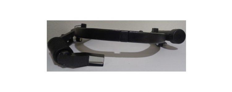 AR Datenbrille mit Prisma an Kopfband
