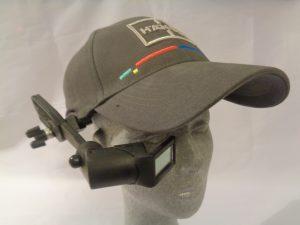 AR data glasses an Stoßkappe montiert