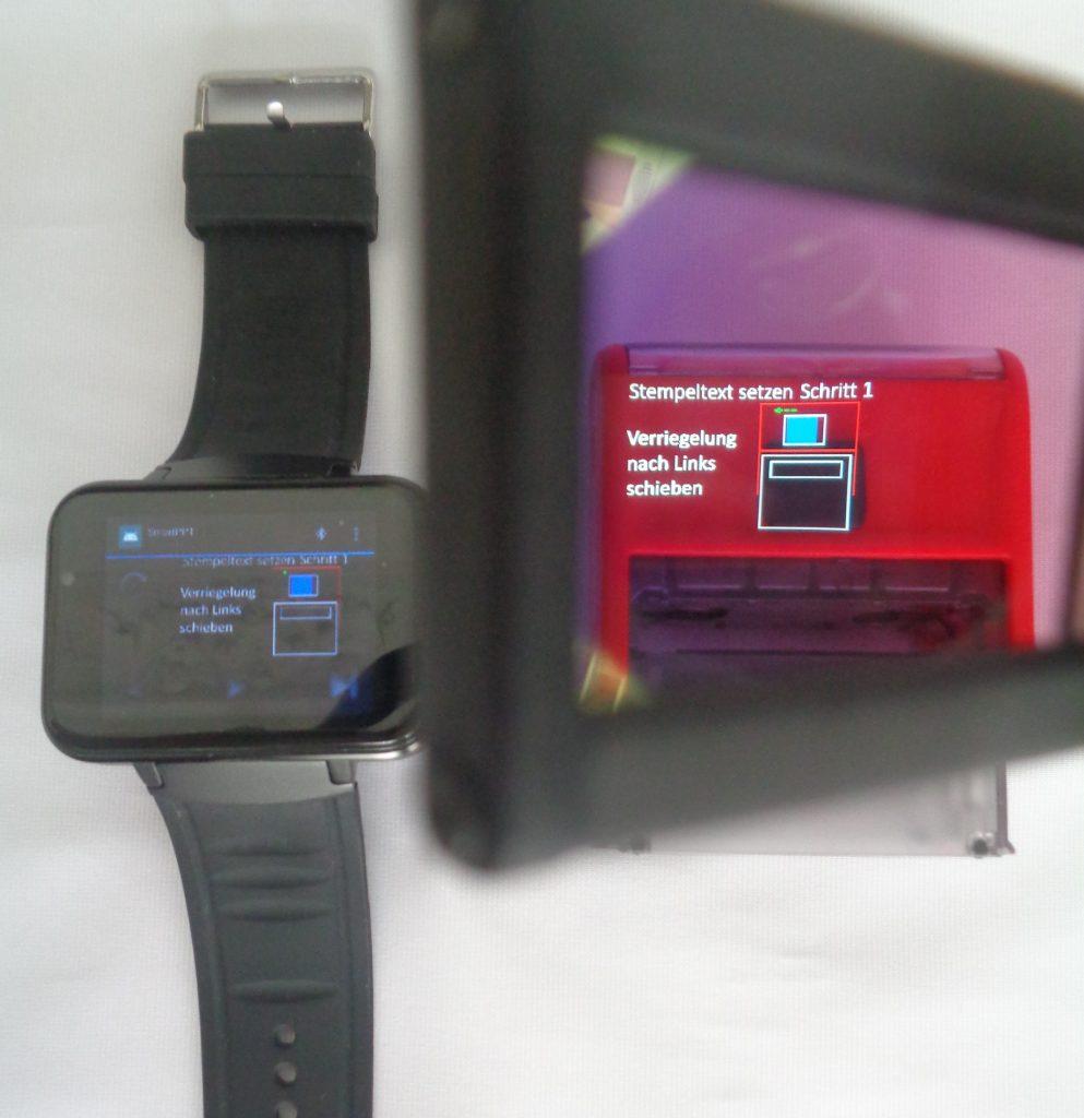 In Power Point erzeugte Arbeitsanweisungen werden von einer SmartWatch auf die Datenbrille übertragen